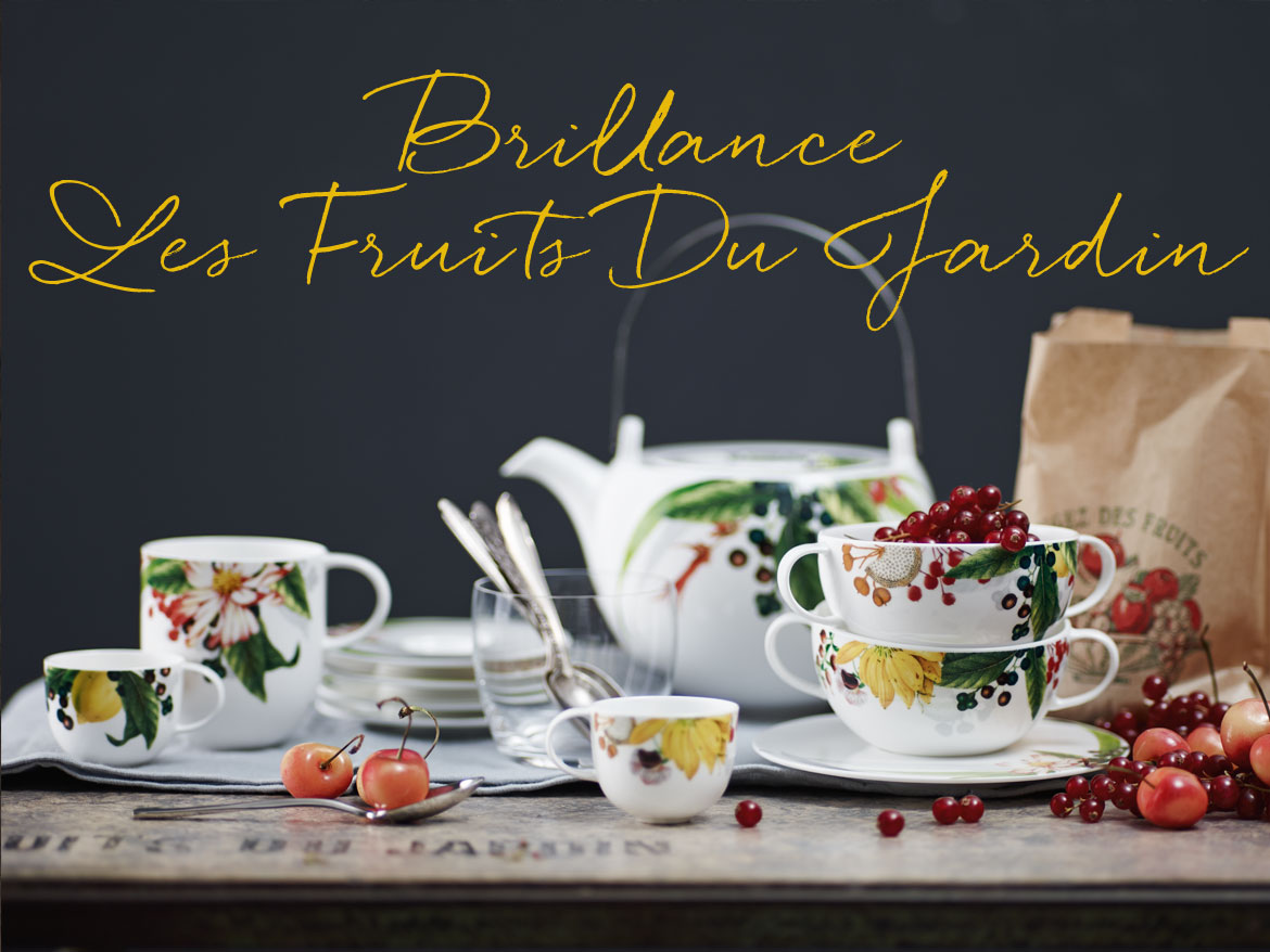The strong colours act as a wonderful contrast to the warm base tones of the Bone China Porcelain