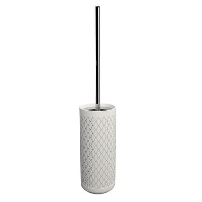 Free standing toilet brush Equilibrium Netting White Chrome
