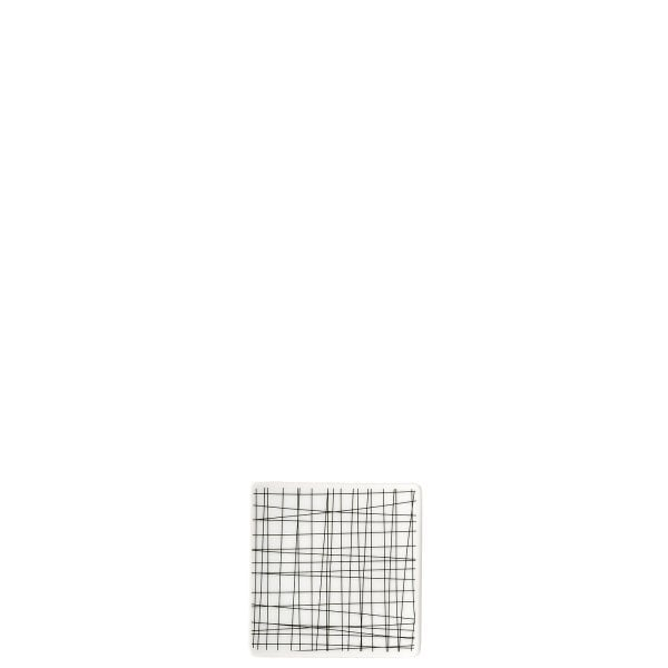Plate 9 cm square flat Mesh Line Forest