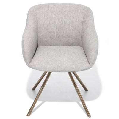 Armchair SHELL Light Grey Fabric