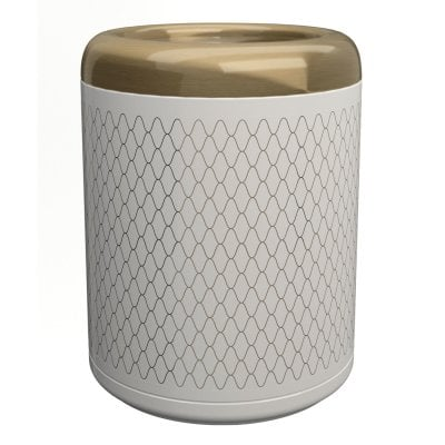 Waste bin Equilibrium Netting White Bronze