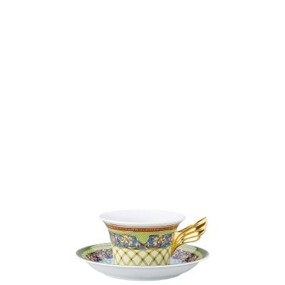 Set plate + cup & saucer / 25 years Versace Russian Dream