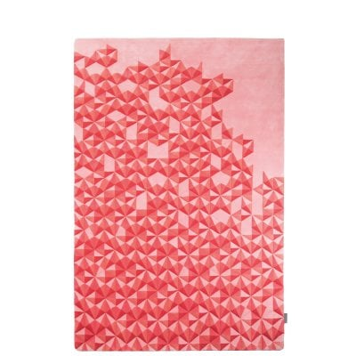 Hand-Tufted Carpet 2x3m Hue Pastel Red