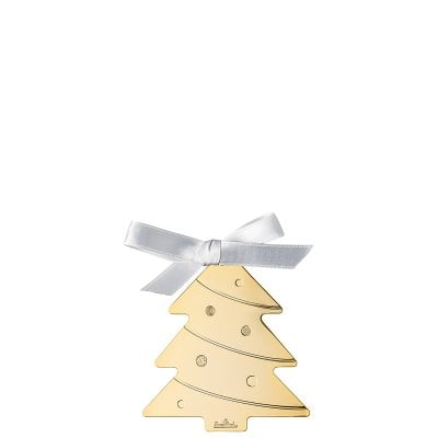 Pendant Christmas Tree 8 cm Silver Collection Christmas Gold