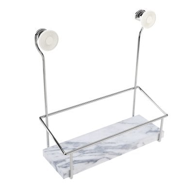 Shower soap dish Equilibrium White mat Chrome
