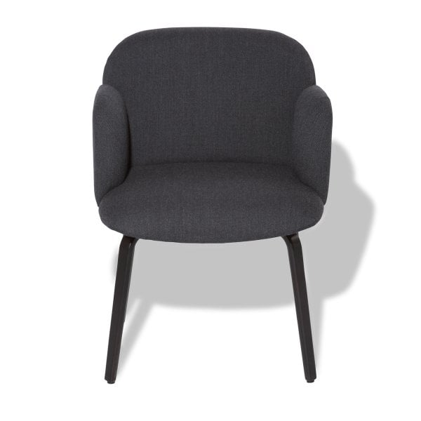 Chair with armrests BOLBO AnthraciteGrey Fabric