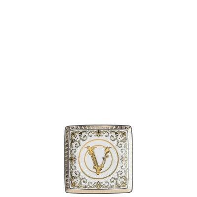 Coupelle carrée 12 cm plate Versace Virtus Gala White