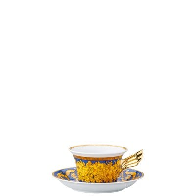 Set Teller + Tasse / 25 Years Versace Floralia Blue