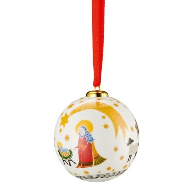 Porcelain ball small Sammelserie 2016-Stille Nacht