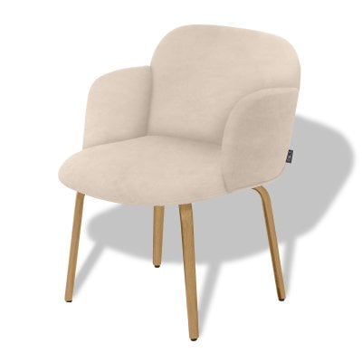 Chair with armrests BOLBO Light Sand Fabric