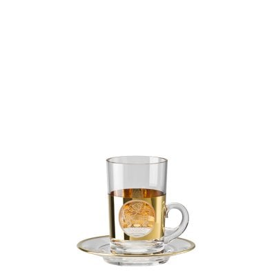 Tea glass 2 pcs. tall Medusa Madness Oro