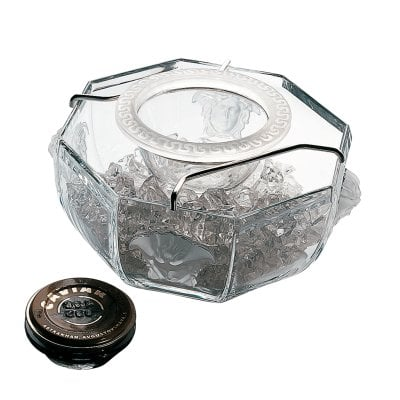 Caviar bowl with insert 3 pcs. Versace Medusa Lumiere