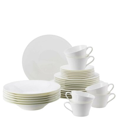 Set 30 pcs. with tea/cappuccino cup & saucer Nora Weiß