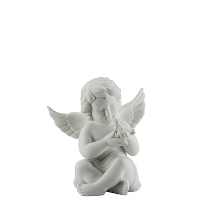 Angel with pigeon Angel middle White-mat