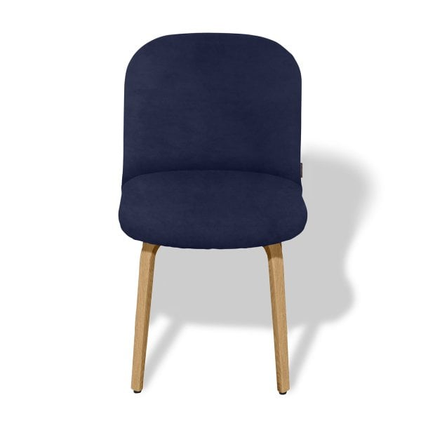 Chair without armrests BOLBO Midnight Blue Fabric