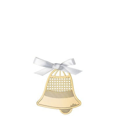 Pendant Bell 8 cm Silver Collection Christmas Gold