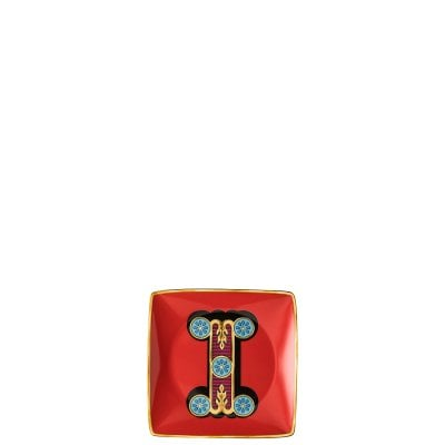 Bowl 12 cm square flat Versace Holiday Alphabet I