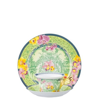 Set plate + cup & saucer / 25 years Versace D.V. Floralia