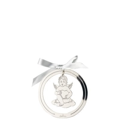 Pendant Angel with heart 8 cm Silver Collection Angels Silver