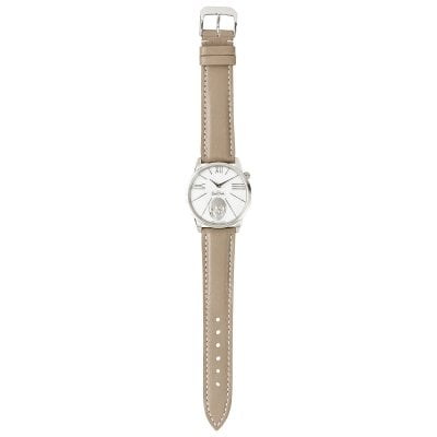 Wrist watch Lady Rock'n'Skull silver-silver-grey