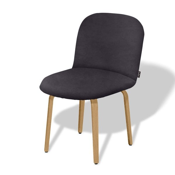 Chair without armrests BOLBO Asphalt Grey Fabric