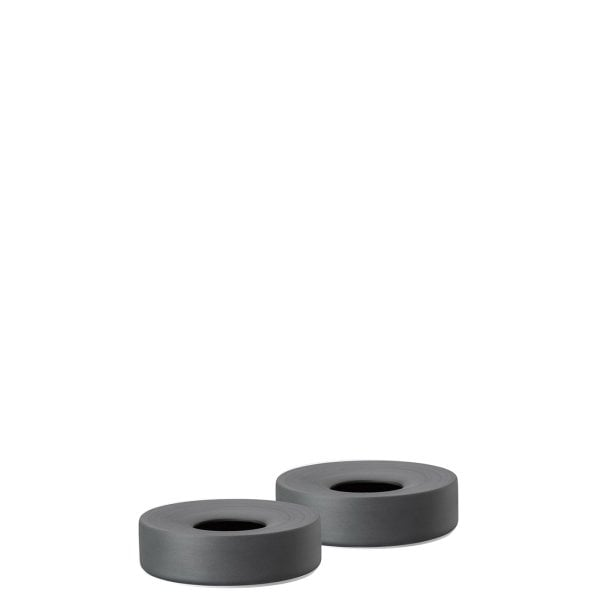 Set 2 egg cups Spot black mat