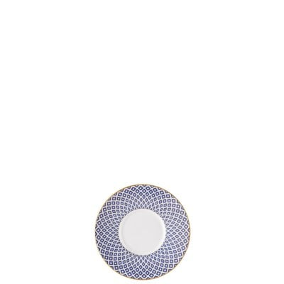 Saucer 2 tall Francis Carreau Bleu