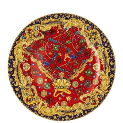 Christmas plate Versace Barocco Holiday