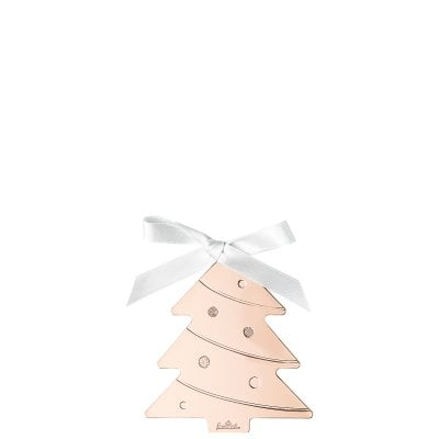 Pendantif arbre de noël 8 cm Silver Collection Christmas Rose Gold