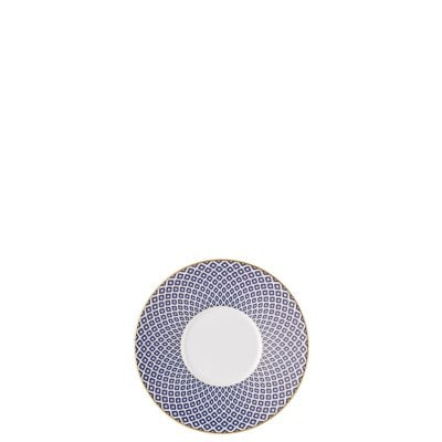 Saucer 4 tall Francis Carreau Bleu
