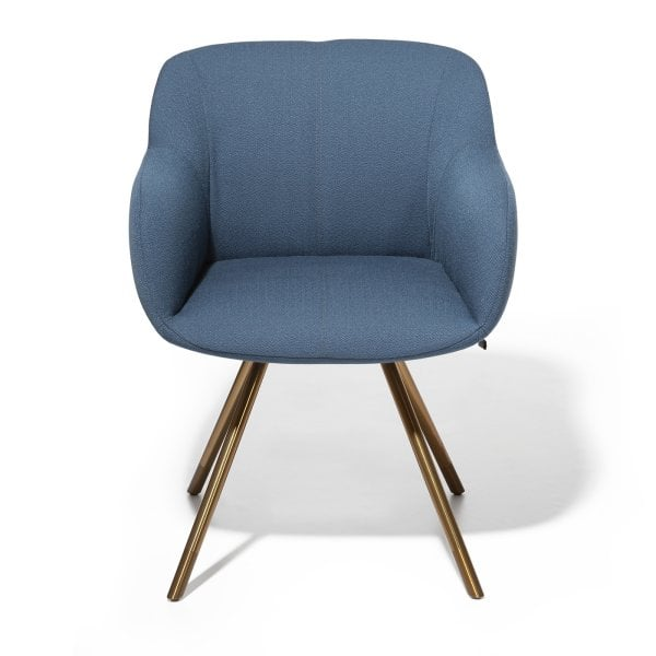 Armchair SHELL Pigeon Blue Fabric