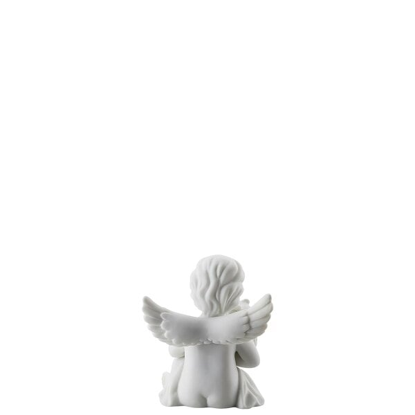 Angel with owl Angel small White-mat