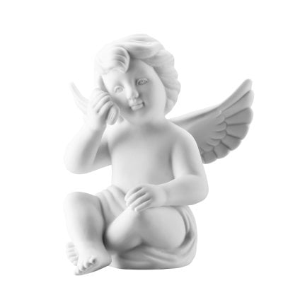 Angel with smartphone 14,5 cm Angel big White-mat