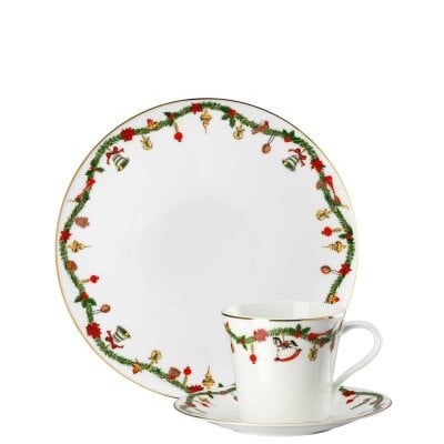 3 pc. place-setting Nora Christmas