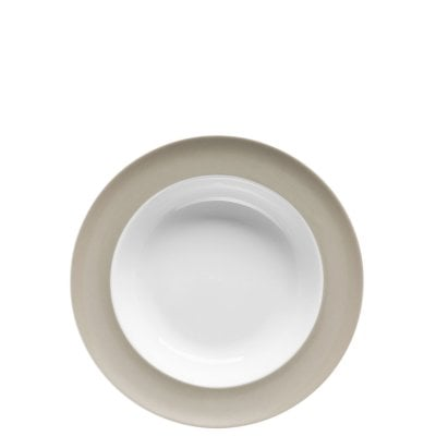 Plate deep 23 cm Sunny Day Greige
