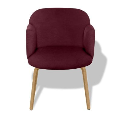 Chaise avec accoudoirs BOLBO Wine Red Tissu