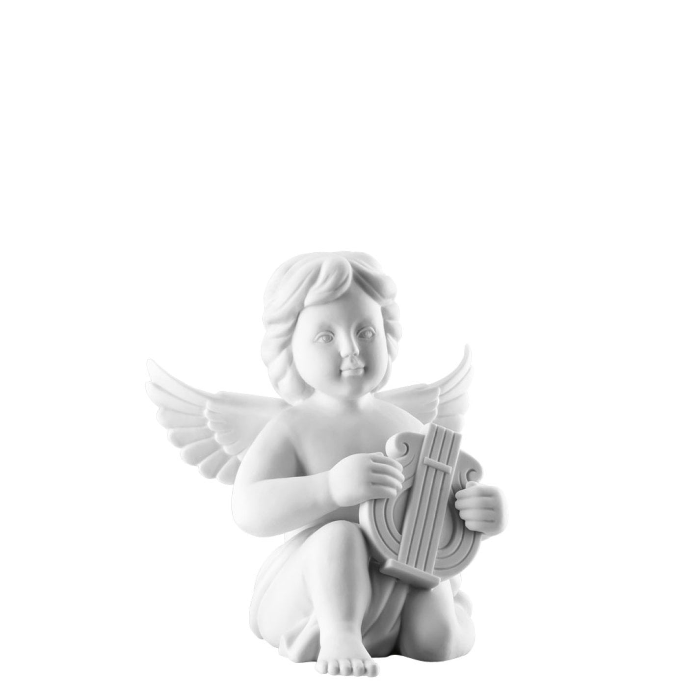 Angel big White-mat Angel with lyre | Rosenthal Porcelain Online Shop