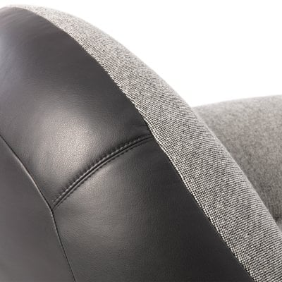 Easy Chair SCOOP Black Fabric/Leather