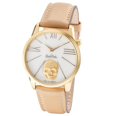 Wrist watch Lady Rock'n'Skull gold-gold-brown