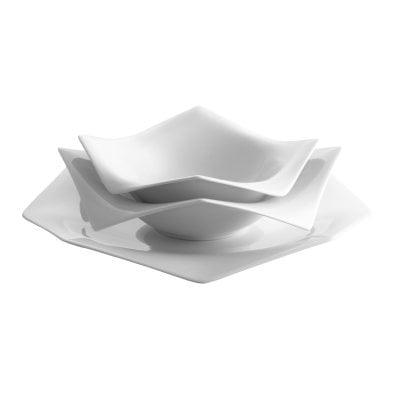 Set 3 pcs. A La Carte-Origami White