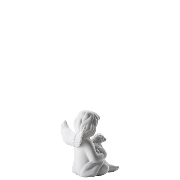Angel with dog Angel small White-mat