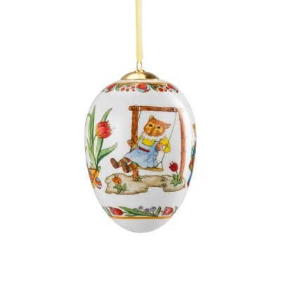 Porcelain midi/medium egg Decoration series Feldhamster