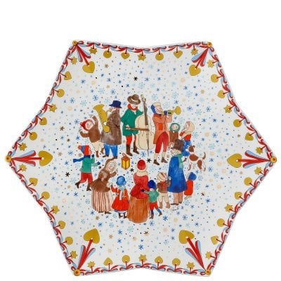 Tray star-shaped 34 cm Sammelkollektion 19 Weihnachtsmarkt