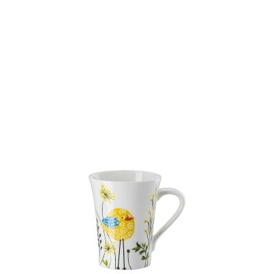 Mug with handle My Mug Collection Birdie - Yellow