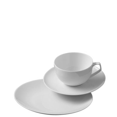 Coffee/tea/combi set 18 pcs. TAC Gropius White
