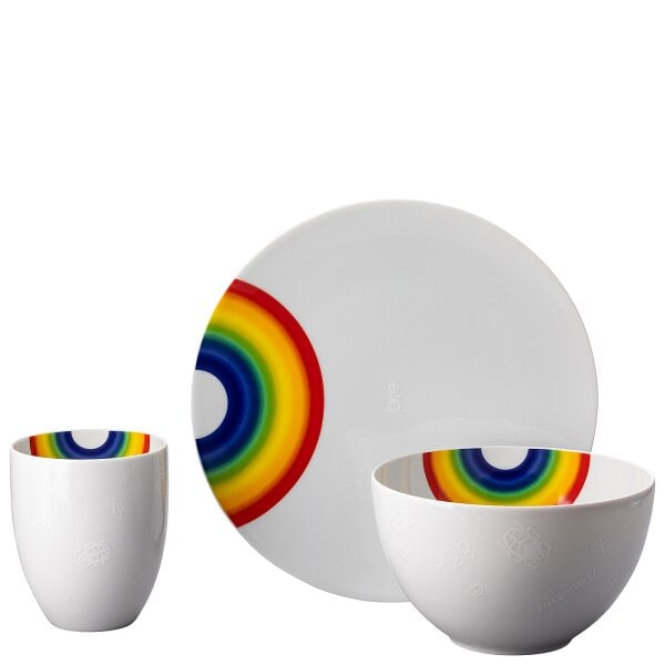 Set 3 pcs. TAC Gropius - COLLECTION #331_RAINBOW by 'zoeppritz since 1828' x Rosenthal