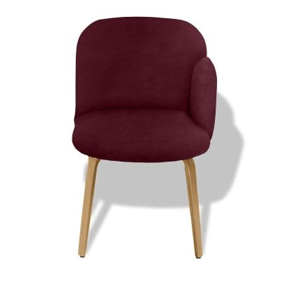 Chair armrest right BOLBO Wine Red Fabric