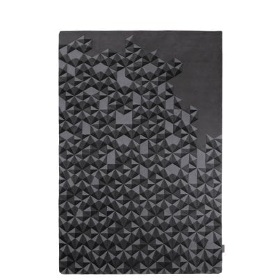 Hand-Tufted Carpet 2x3m Hue Anthracite Grey