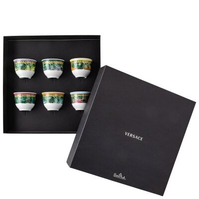 Set 6 Becher klein ohne Henkel Versace Jungle Animalier