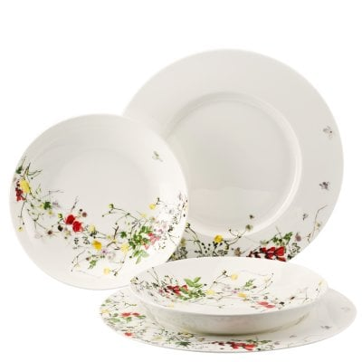 Set 4 pcs. with rim and coupe plates Brillance Fleurs Sauvages